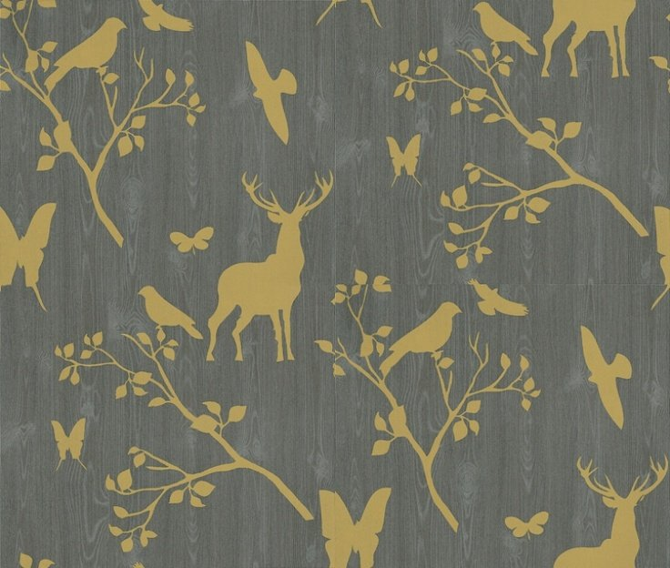 Wallpapers Baby Deer Albany Wallpapers Woodland House Boys 736x624