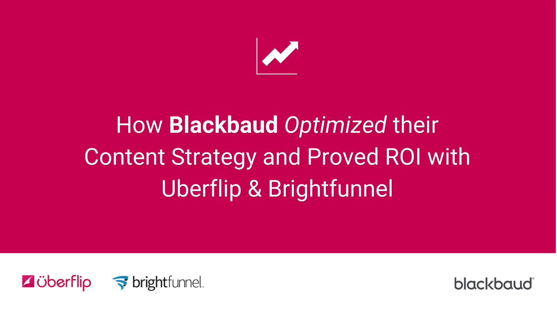 How Blackbaud Optimized their Content Strategy and Proved ROI 1920x1080