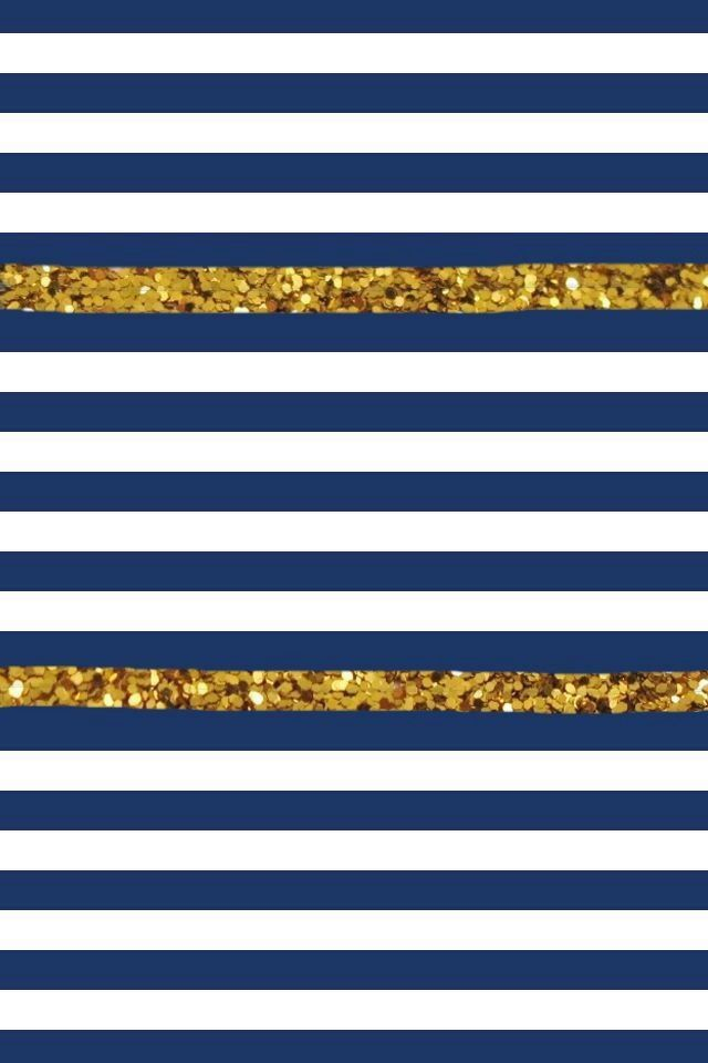 Navy blue and gold stripped iPhoneiPadMac wallpapers Pinterest 640x960