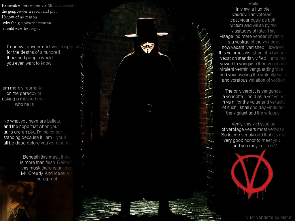 for Vendetta wallpapers V for Vendetta background   Page 2 1024x768