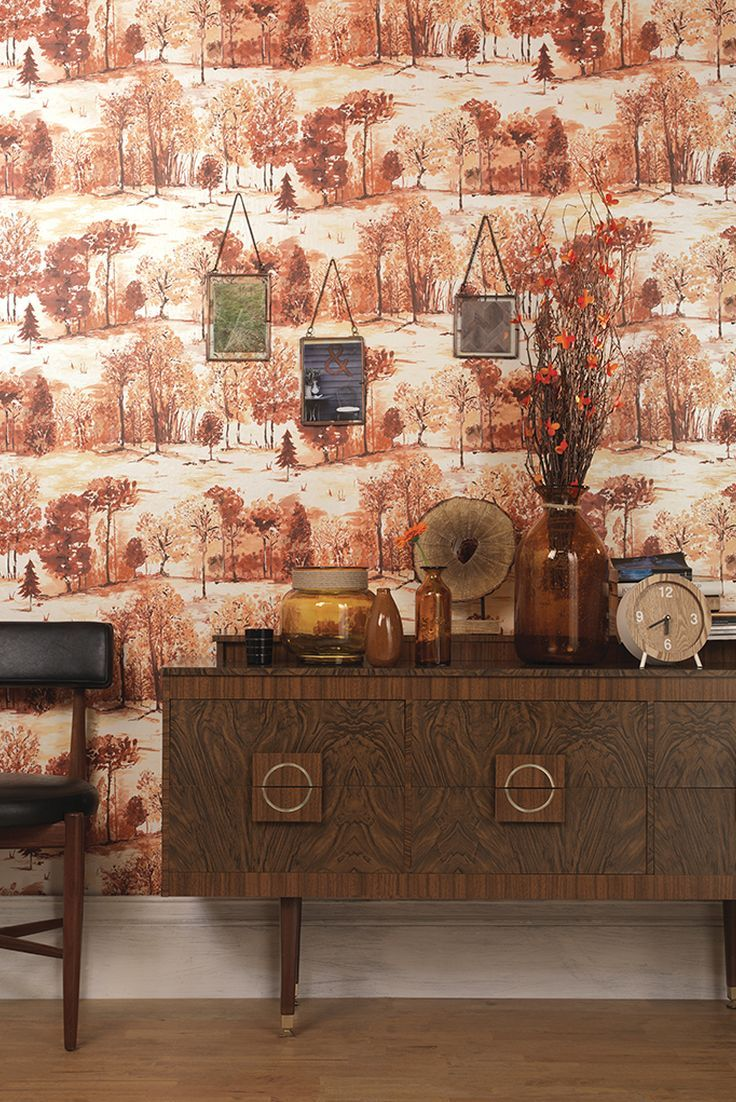 Roscoe by Albany   Burnt Orange   Wallpaper   98560 in 2019 736x1102