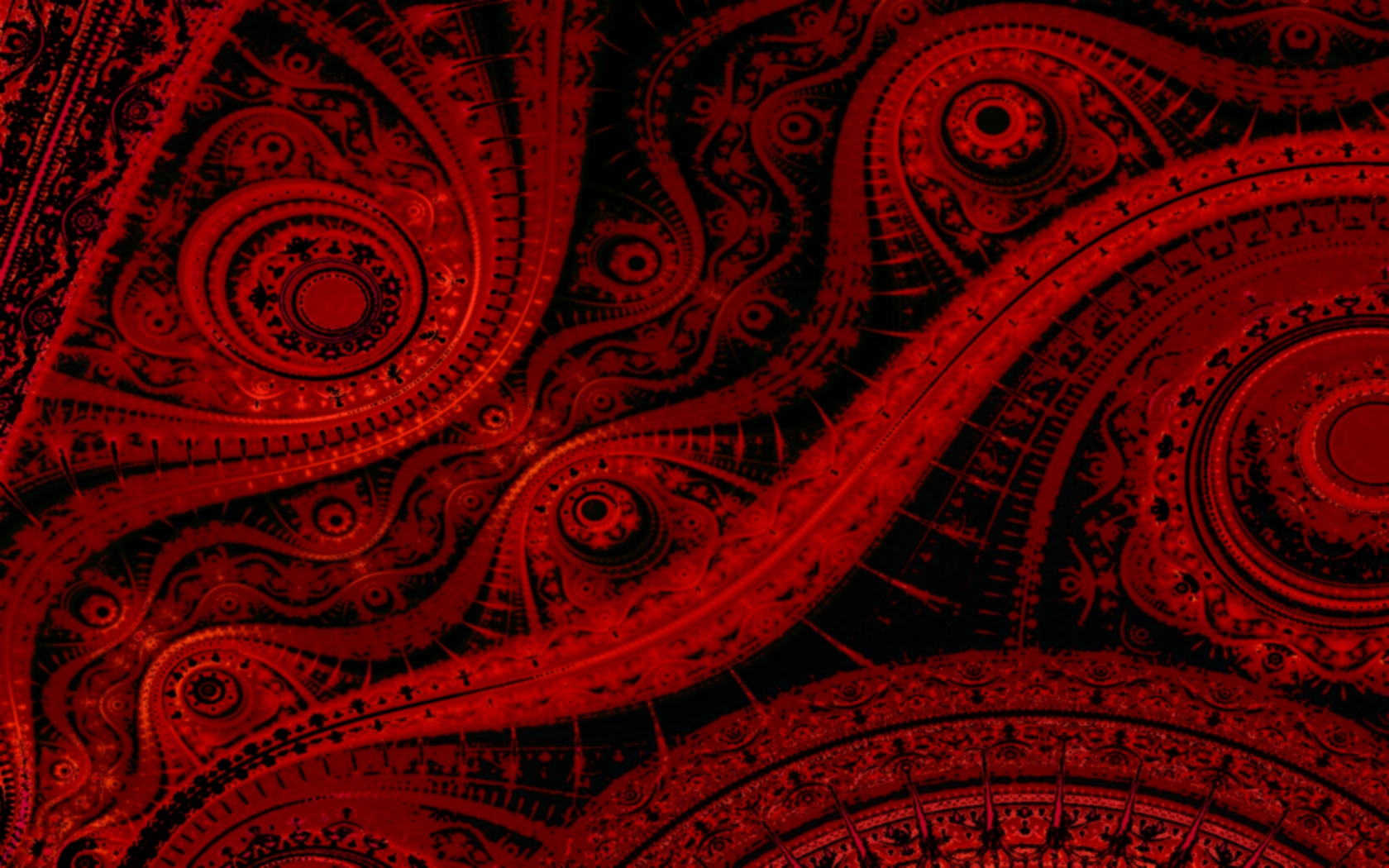 Abstract red fractal julia background hd wallpaper Black Background 1680x1050