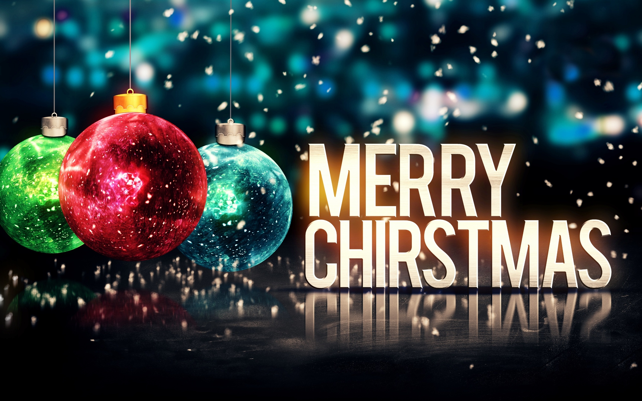 Merry Christmas background 4K Ultra HD wallpaper 4k WallpaperNet 2560x1600