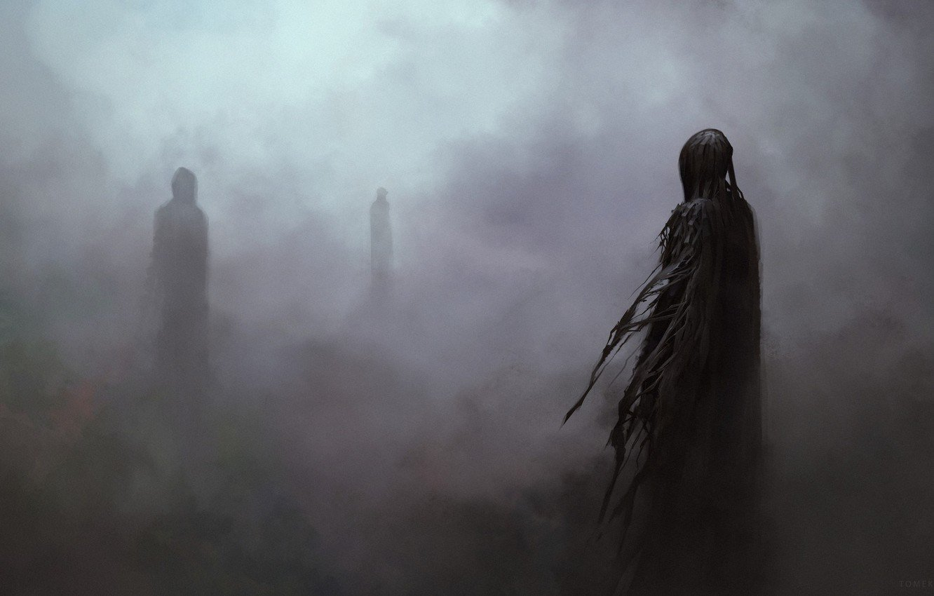 Wallpaper Fog Figure Harry Potter Art Art Harry Potter 1332x850