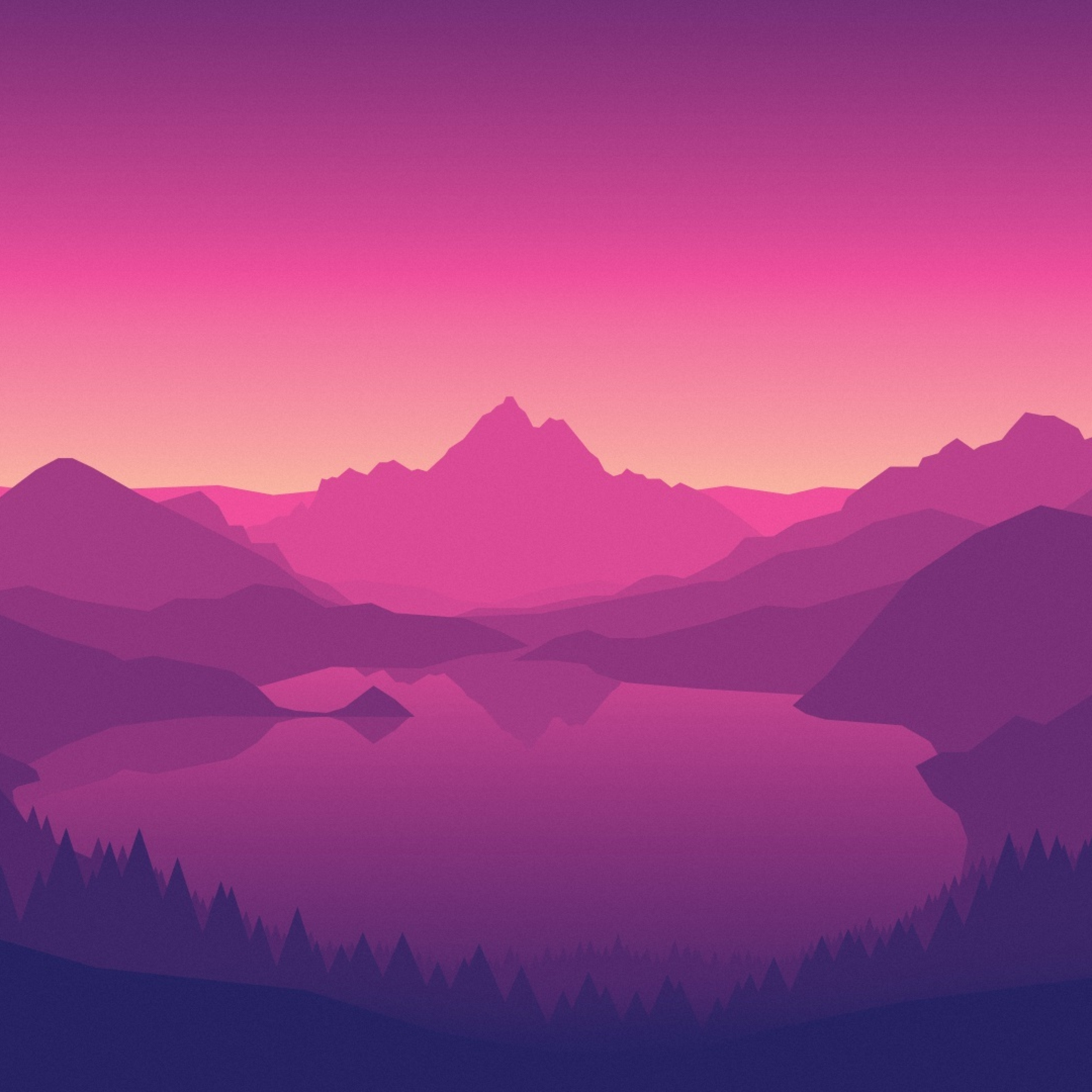 Download Firewatch Video Games Mountains Apple iPad Air wallpaper 2780x2780