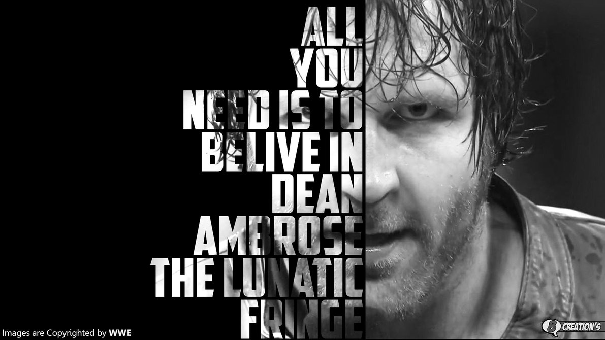 Dean Ambrose Wallpaper by Arunraj1791 1191x670