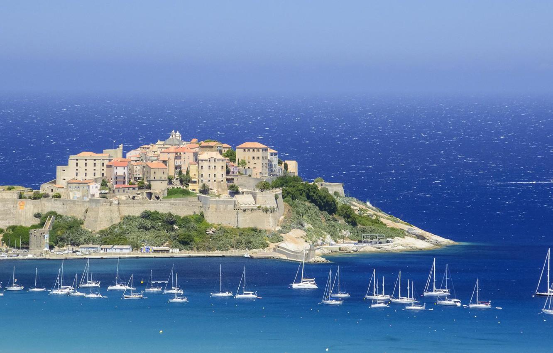 Wallpaper France fortress Corsica Calvi images for desktop 1332x850