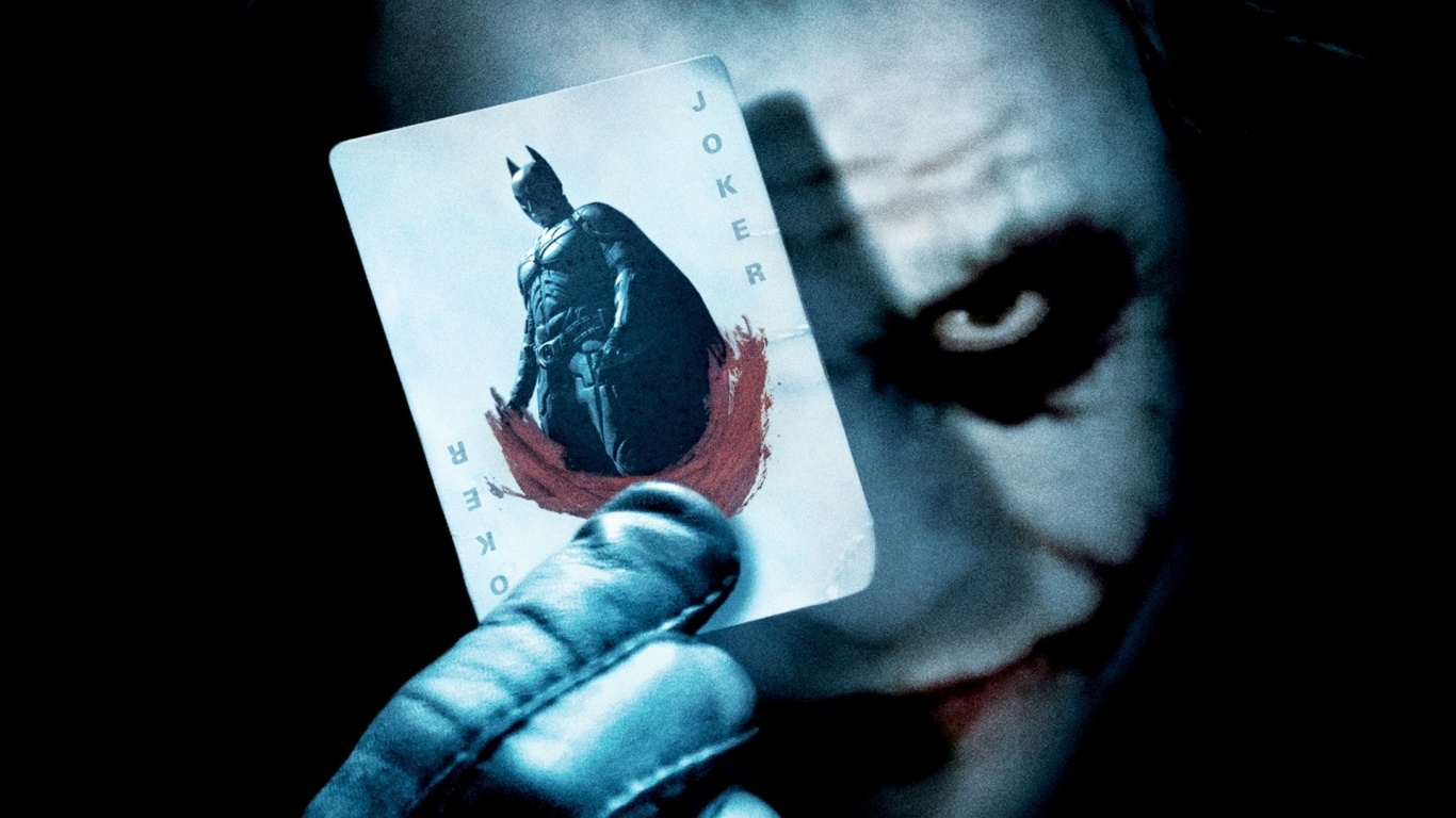 Batman Joker Card Wallpapers HD Wallpapers 1366x768