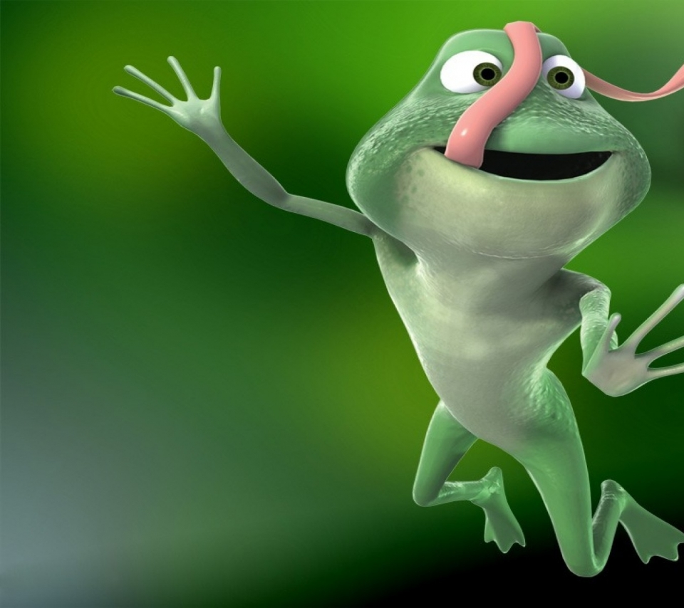 Back Gallery For animated frog wallpaper 960x854