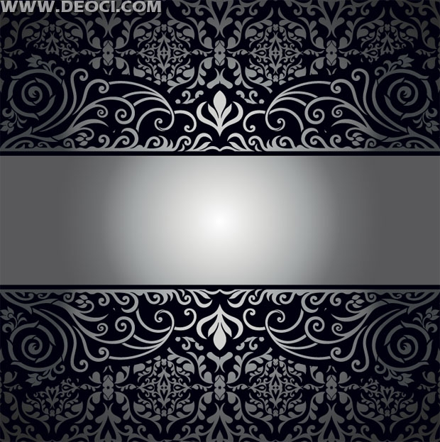 Silver pattern album cover background design material EPS file to 620x623