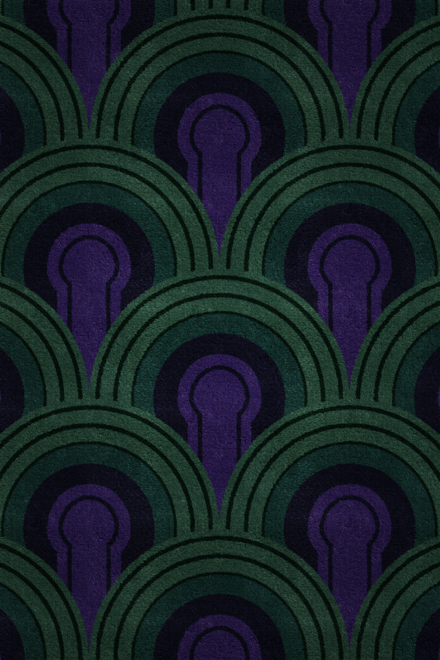 The Overlook Hotel iOS wallpaper patterns inspired by the 640x960