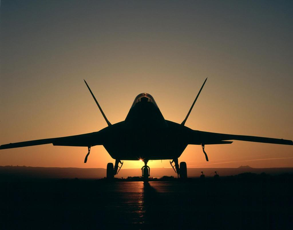 F22 Sunset Wallpaper Background 1024x804