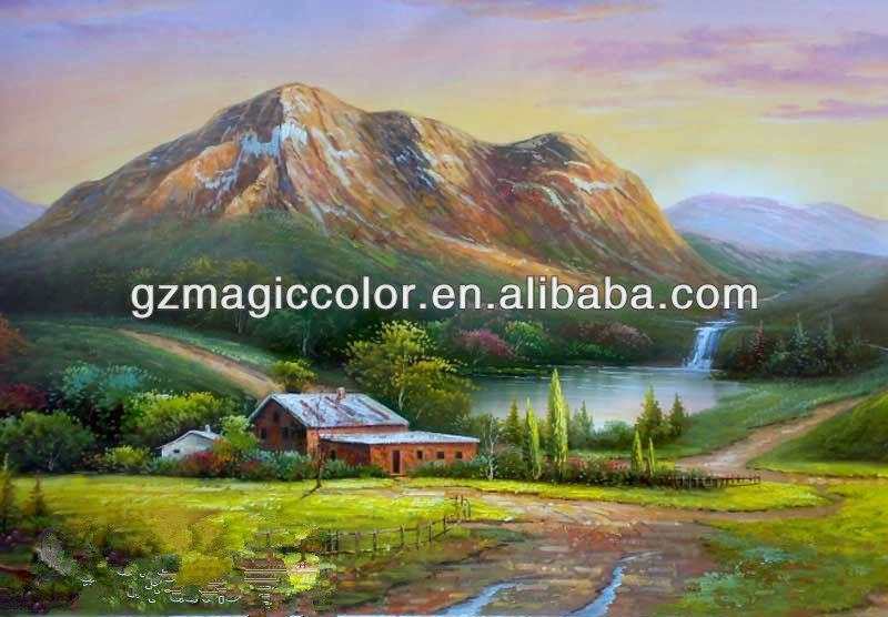 country landscape oil painting wall mural 800x556