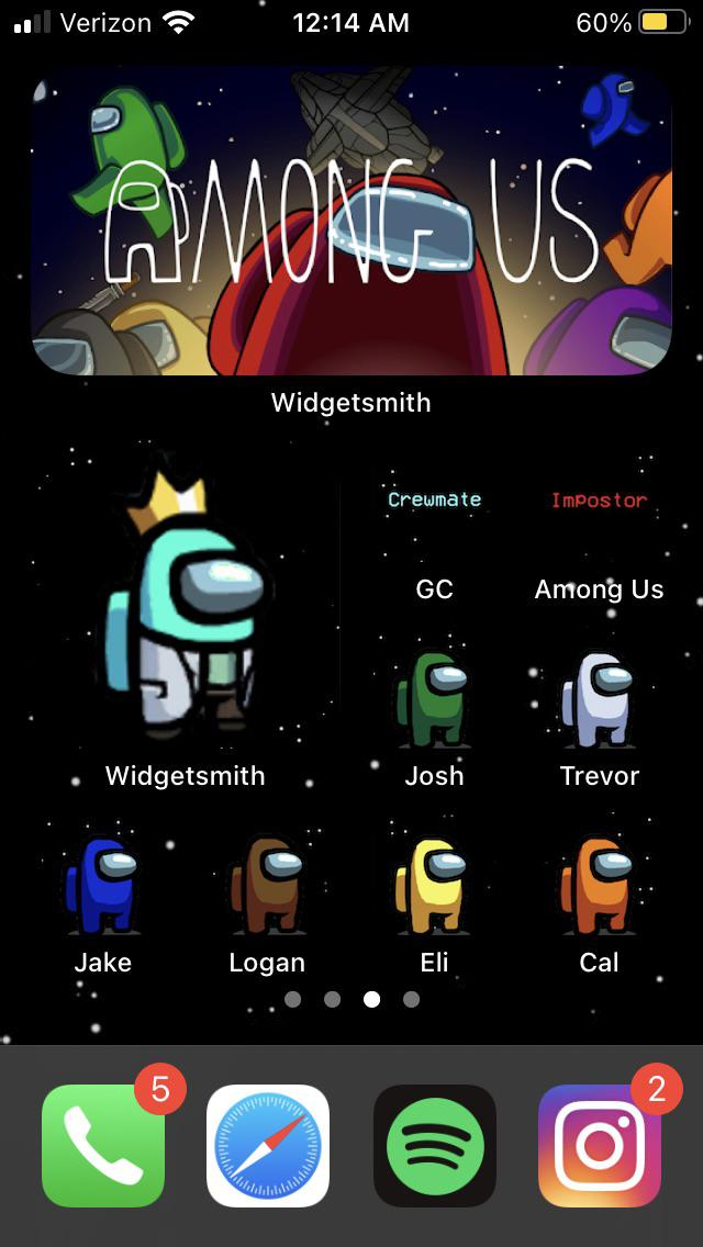 My take on an Among Us IOS 14 background AmongUs 640x1136