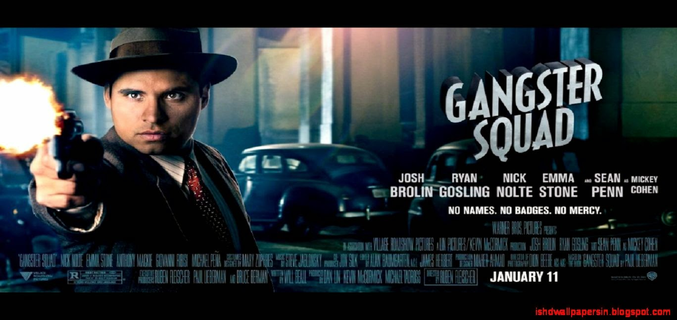 27 Gangster Squad Wallpapers HD Backgrounds Wallpaper Abyss 1368x648