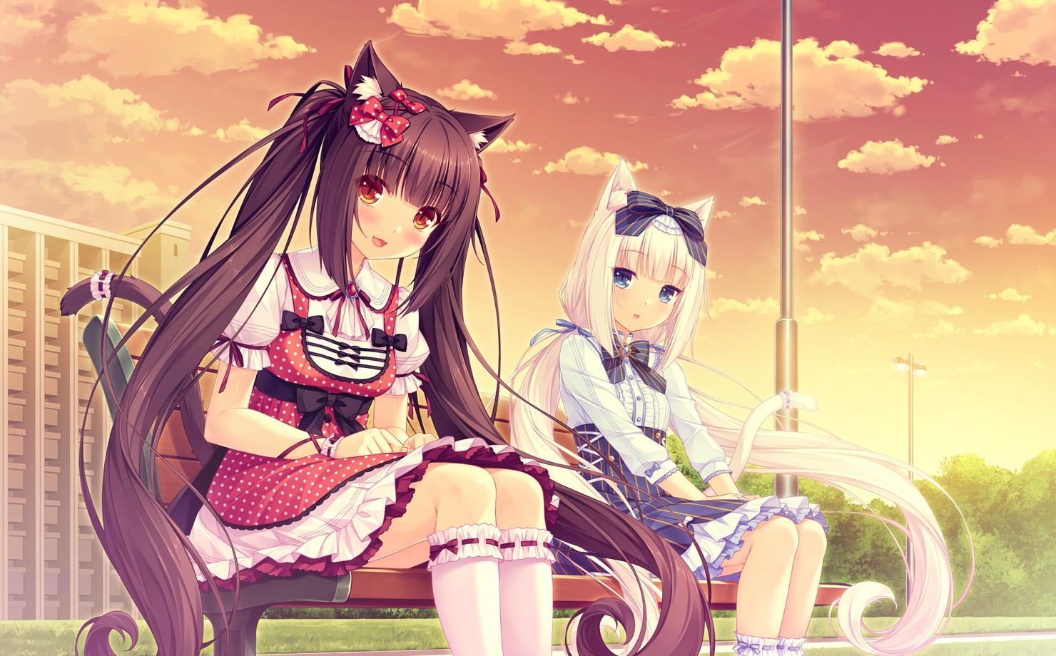 Anime Sayori Neko Para Vanilla Neko Para Chocola Neko Para 1480x920
