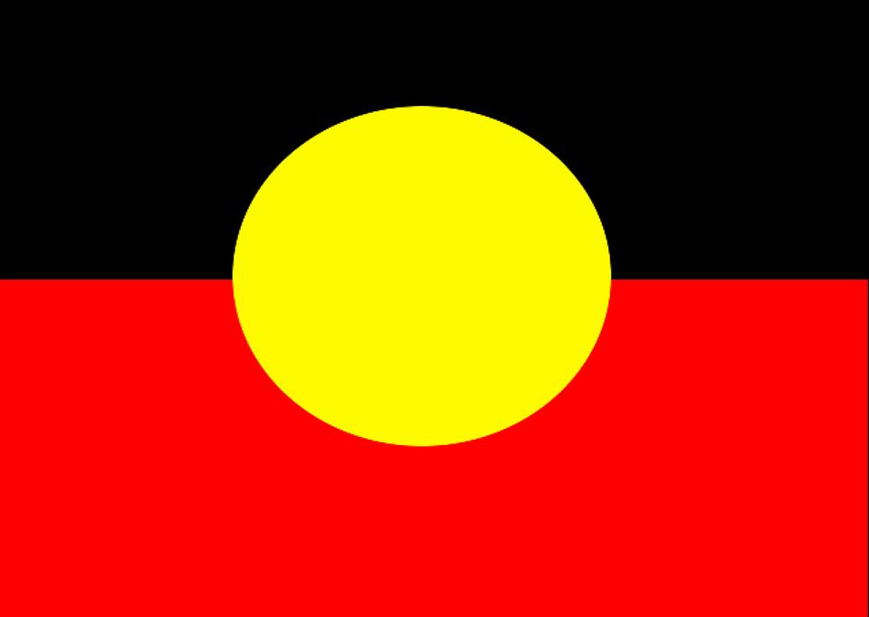 vector graphic Aboriginal Flag Australia 960x682