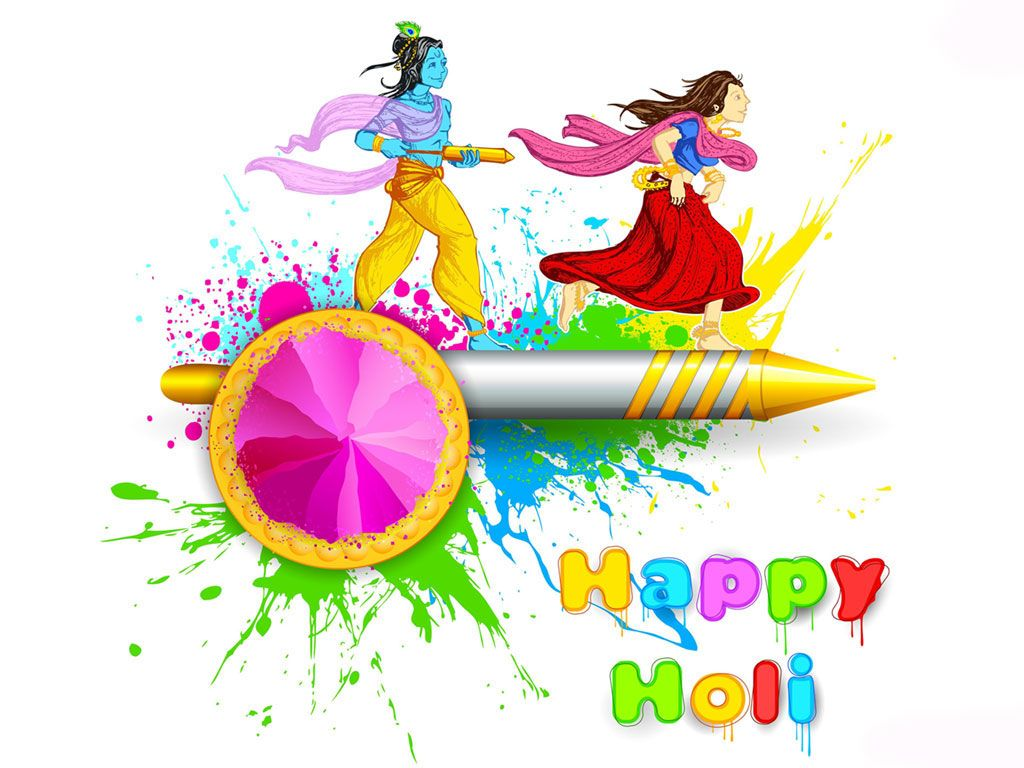 Latest Holi Wallpapers Download Festivals Happy holi wallpaper 1024x768