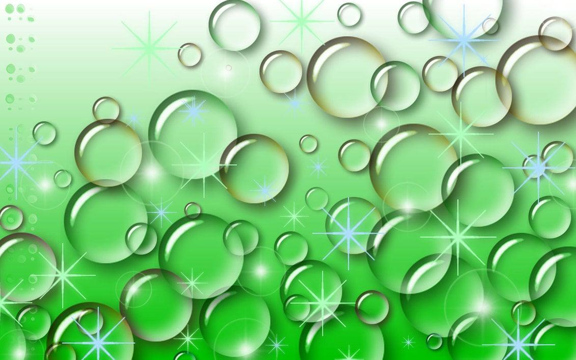 Green Bubbles Wallpaper Hd Wallpaper Background Hd