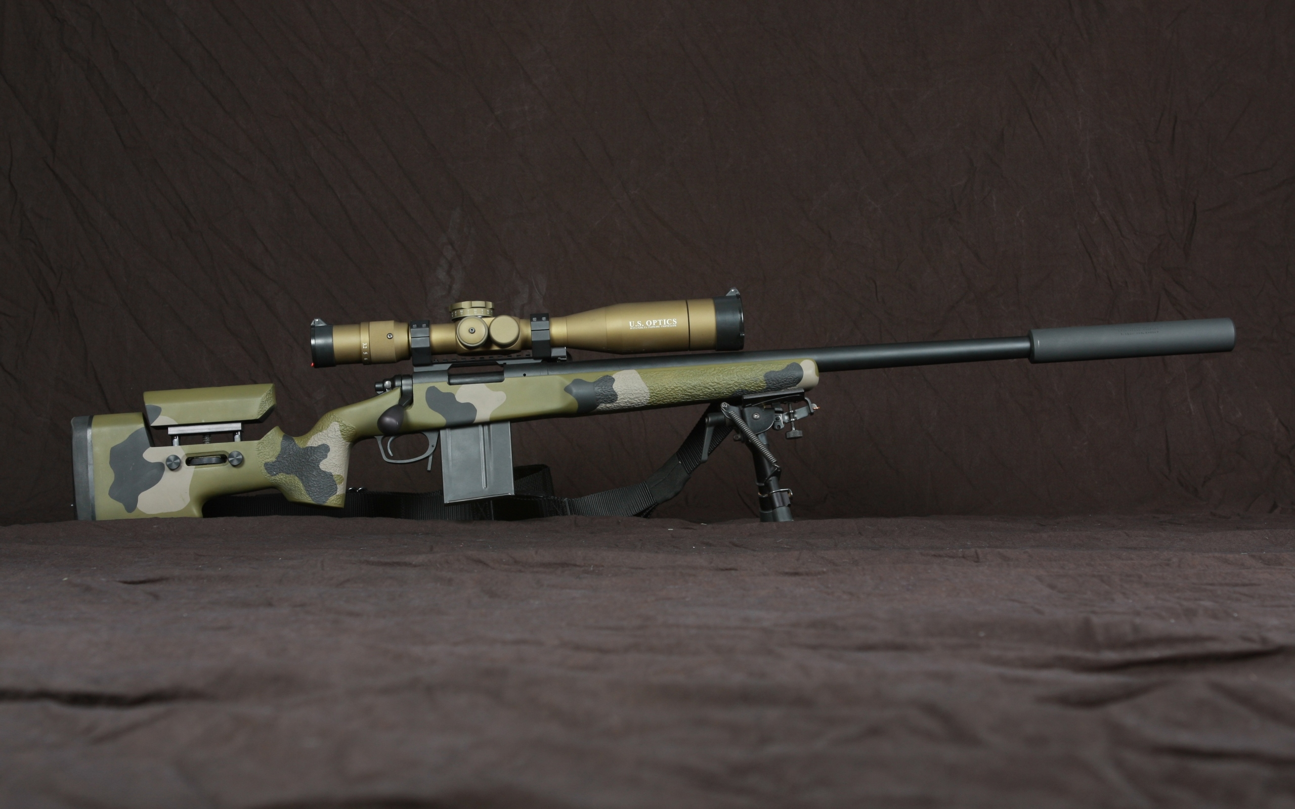 Sniper Rifle brown gun military rifle sniper 2560x1600