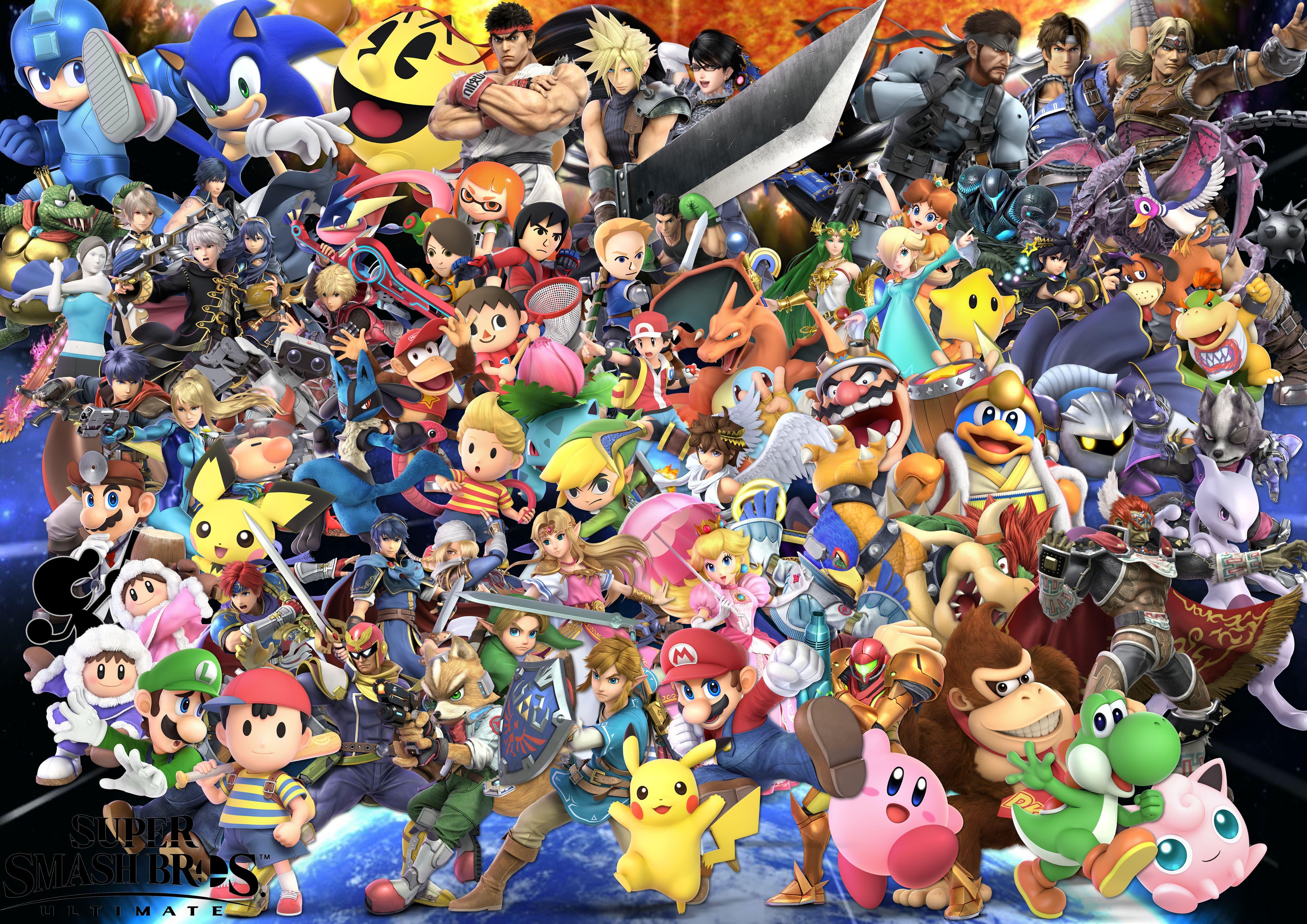 download 4k Background Super Smash Bros Ultimate by 4961x3508