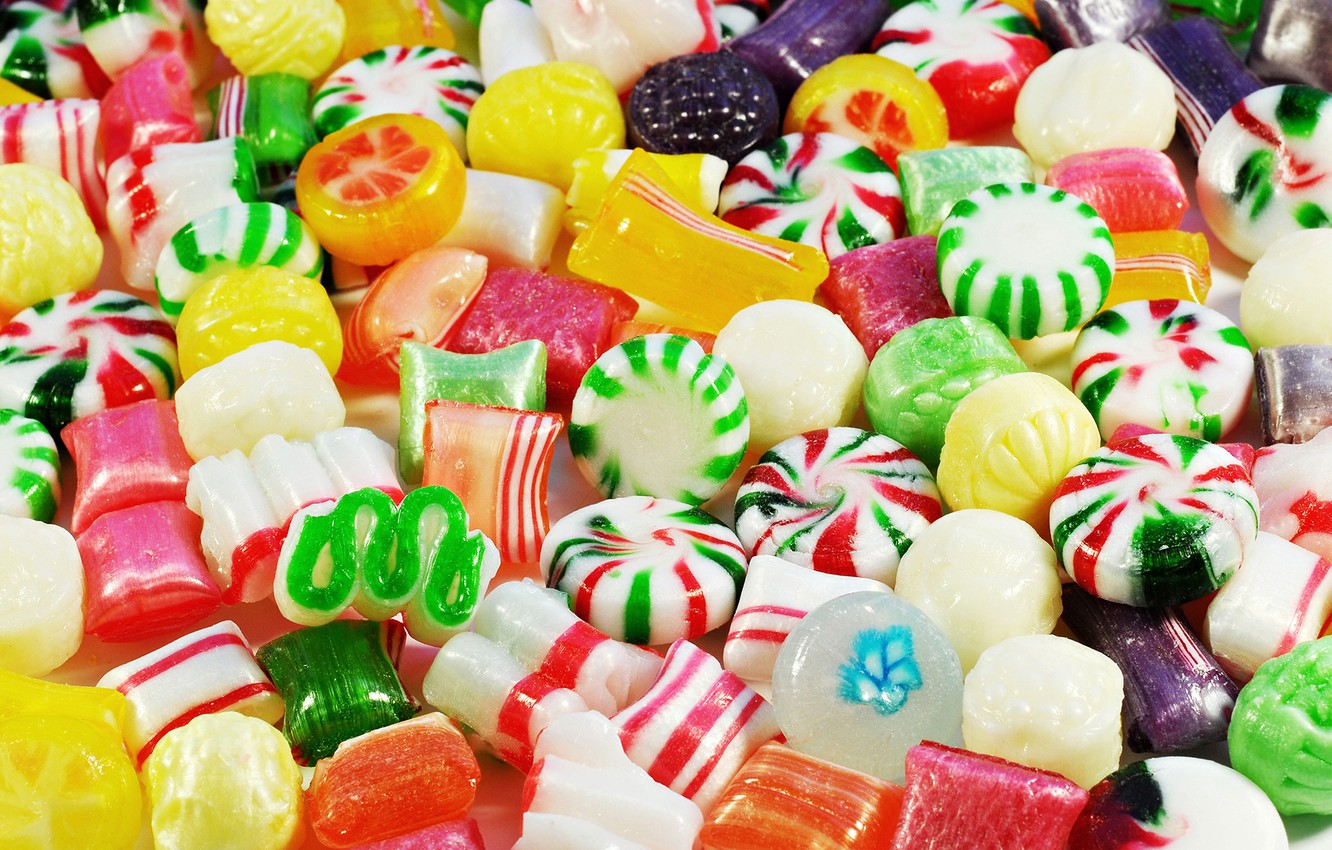 Wallpaper colorful candy lollipops sweet sweet candy 1332x850