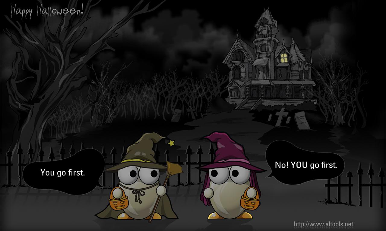 Halloween Haunted House Desktop and mobile wallpaper Wallippo 1280x768