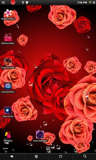 View bigger   Roses live wallpaper for Android screenshot 307x512