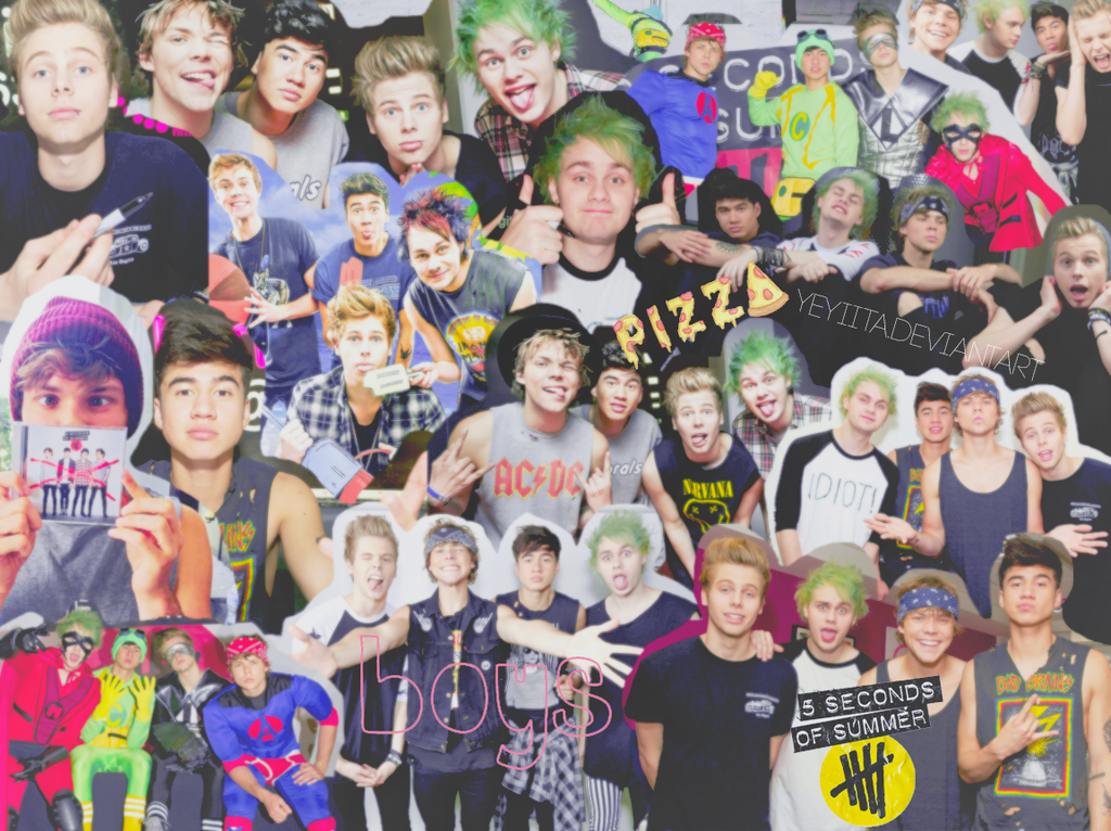 5sos Collage Wallpaper Collage Wallpapers 5sos 1024x766