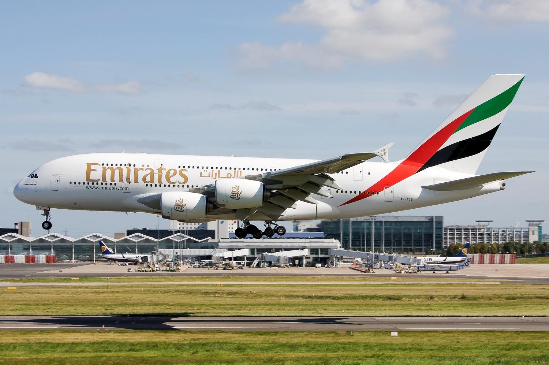 Fly Emirates Airbus A380 Aircraft Wallpaper 3048   AERONEFNET 1500x997