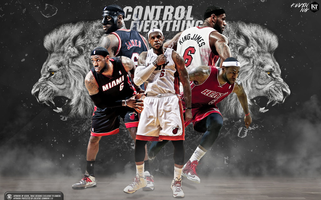 LeBron James Control Everything Wallpaper by Kevin tmac 1024x640