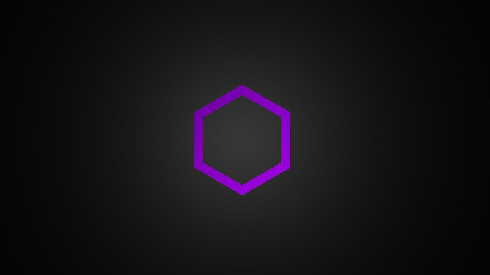 purple Minimalism Hexagon HD Wallpapers Desktop and Mobile 1920x1080