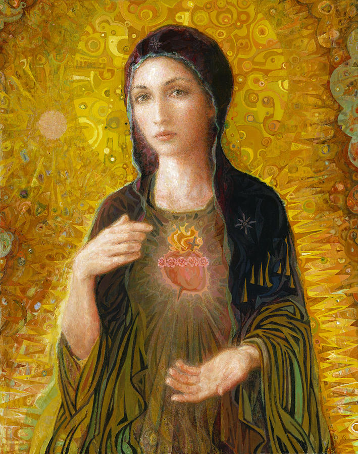 Immaculate Heart Of Mary by Smith Catholic Art 709x900