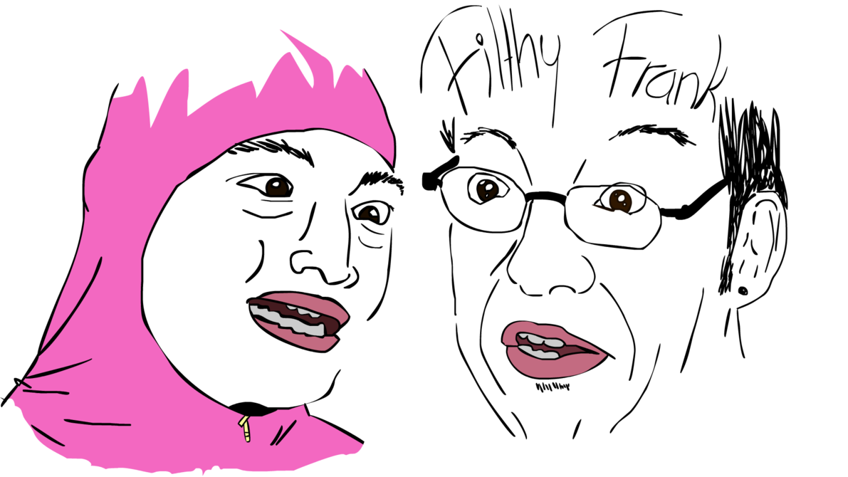 Filthy Frank and Pink Guy by RainbowPriest 1191x670