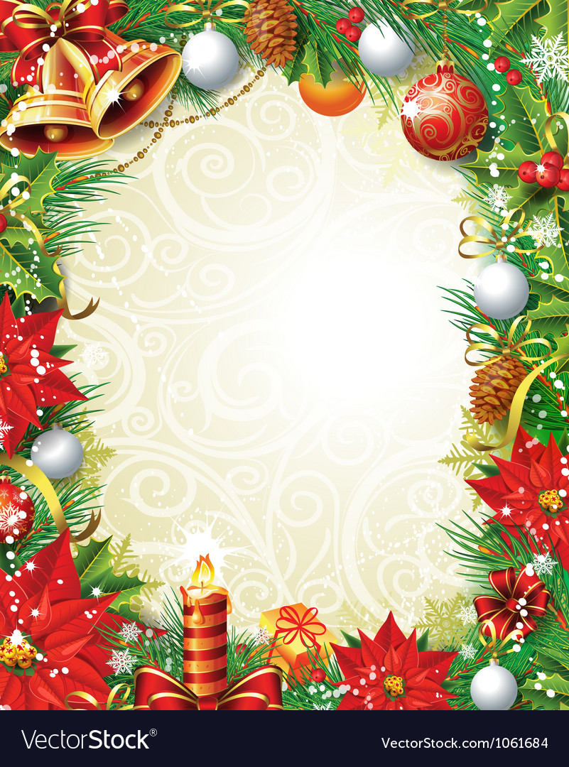 Vintage Christmas background Royalty Vector Image 801x1080