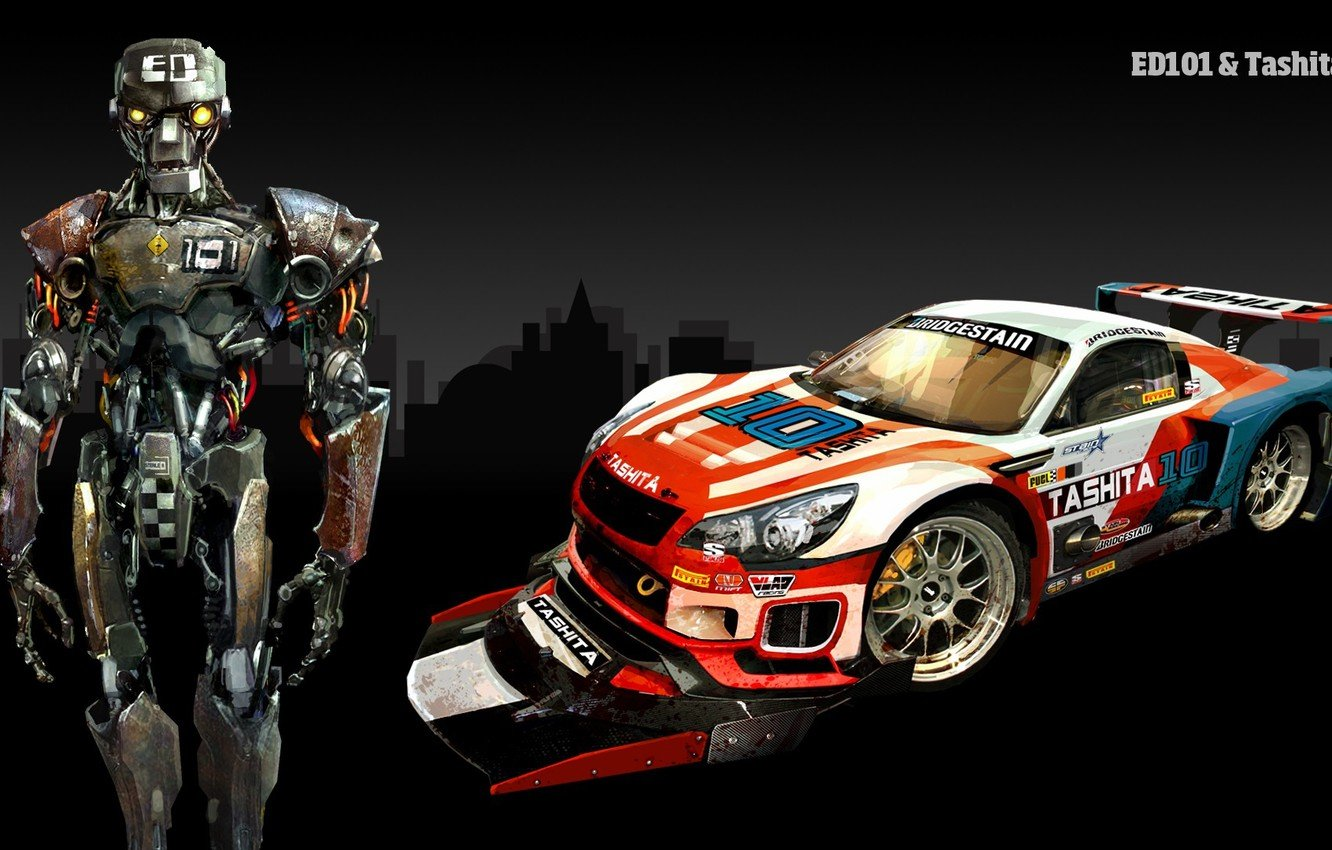 Wallpaper Car Cyborg Tashita Carmageddon Reincarnation 1332x850