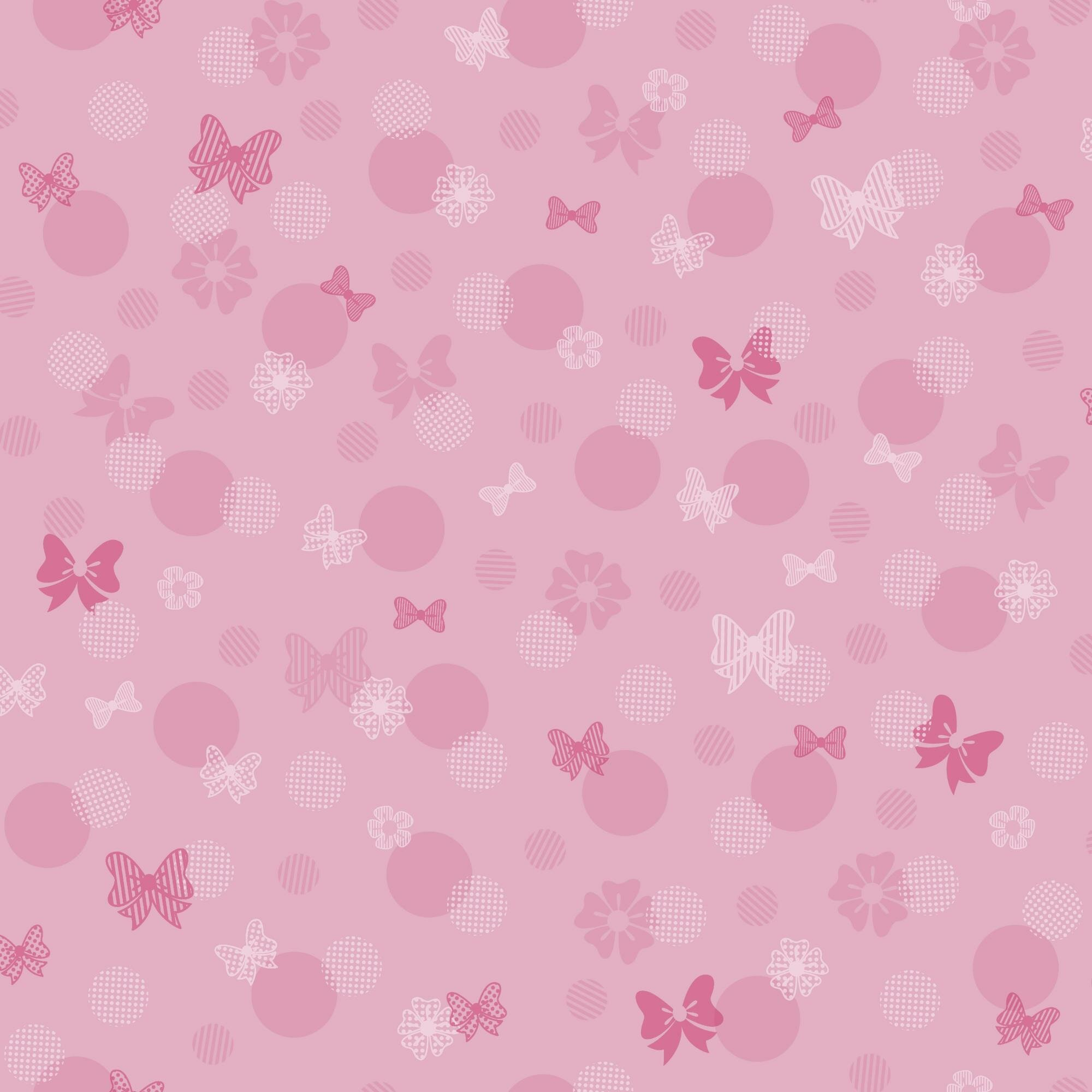 York Wallcoverings Disney Kids III Minnie Mouse Bows and Dots 33 2000x2000