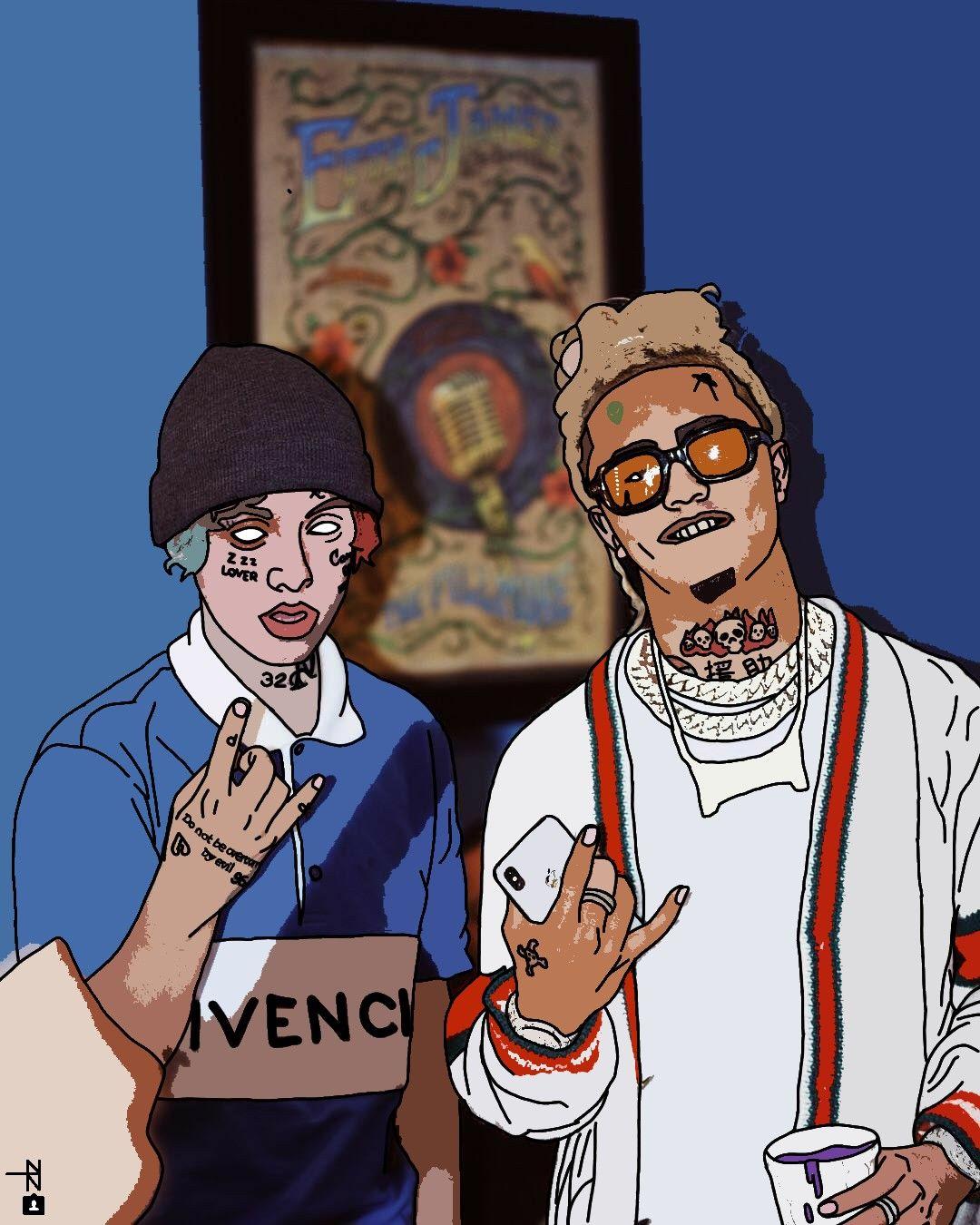 Lil Xan and Lil Pump in 2019 Lil pump Rapper art 1080x1350