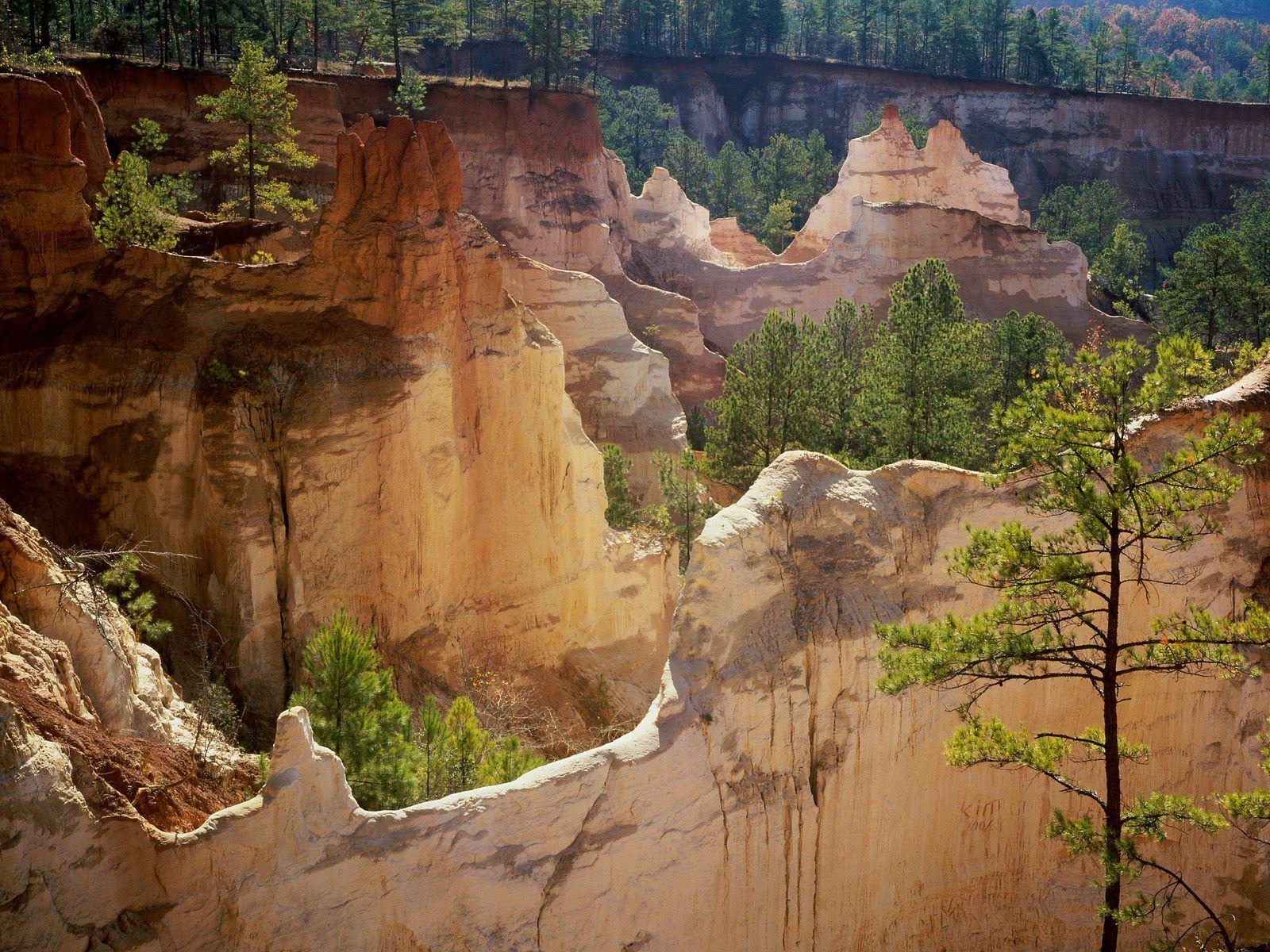 Providence Canyon State Park Lumpkin Georgia widescreen wallpaper 1600x1200