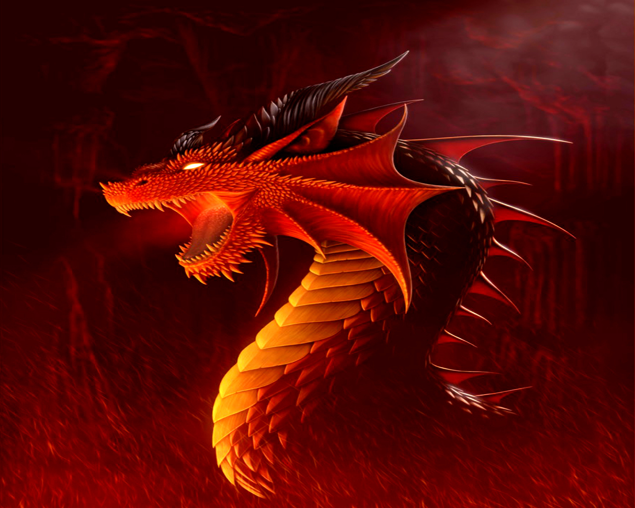 Desktop Backgrounds 4U Fantasy Dragons 1280x1024