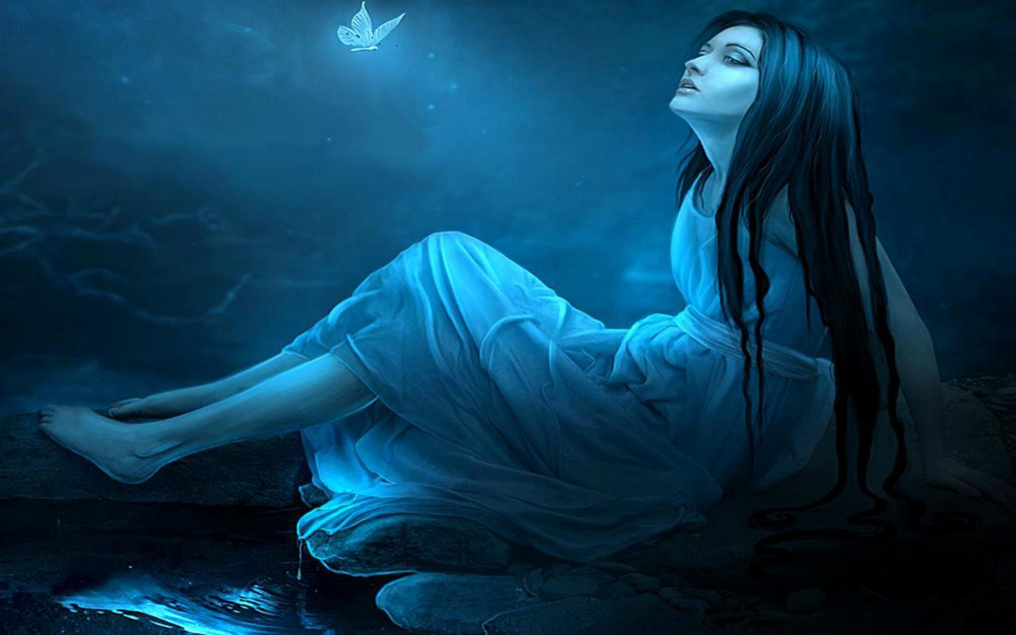girls wallpapers blue fantasy women wallpaper beautiful fantasy women 1440x900