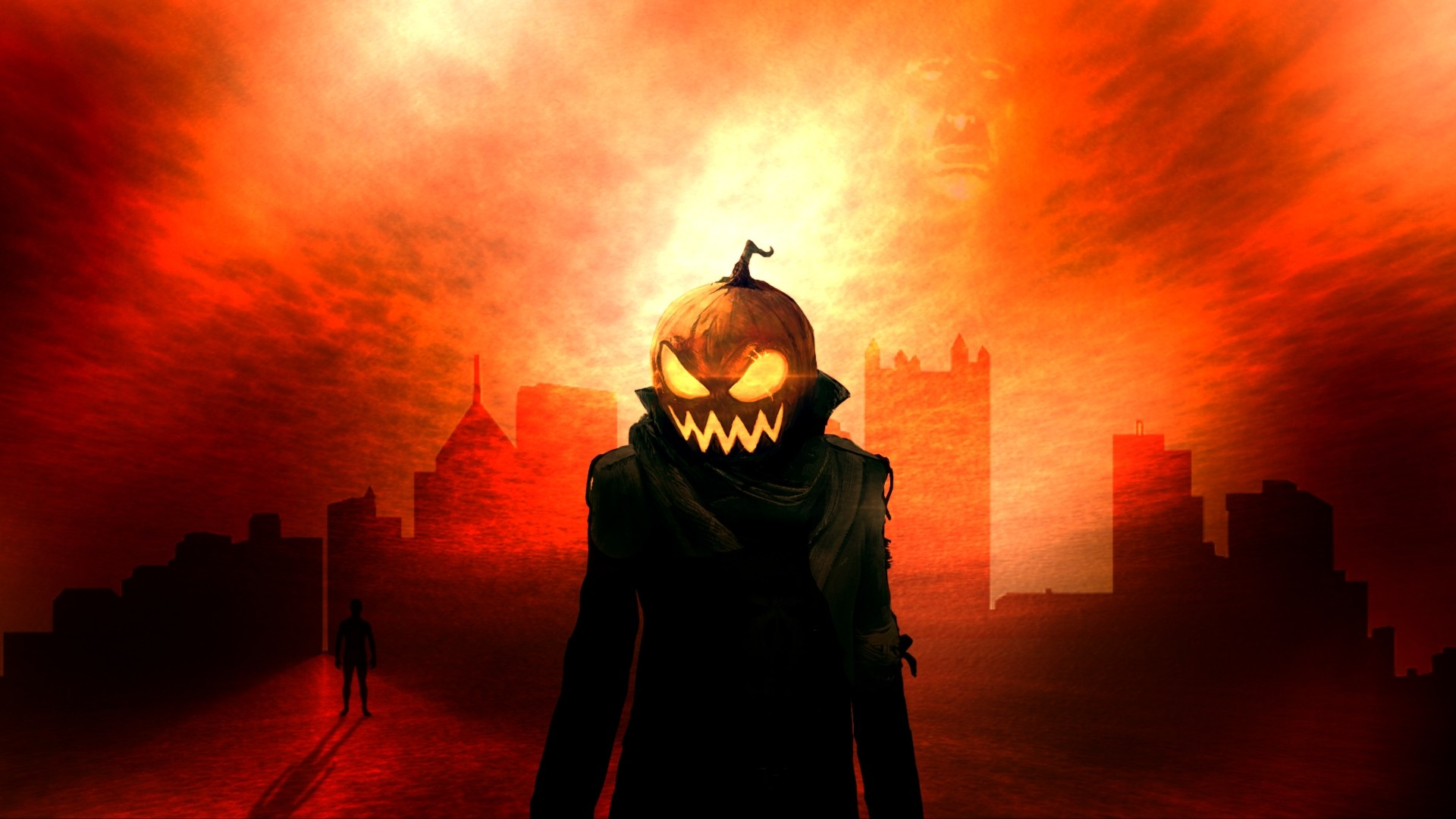 Halloween Helloween pumpkins evil Wallpapers 1920x1080