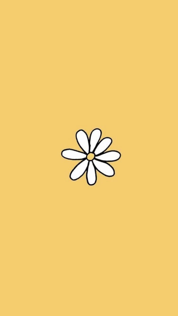 aesthetic flower yellow daisy background wallpaper quotes 750x1334