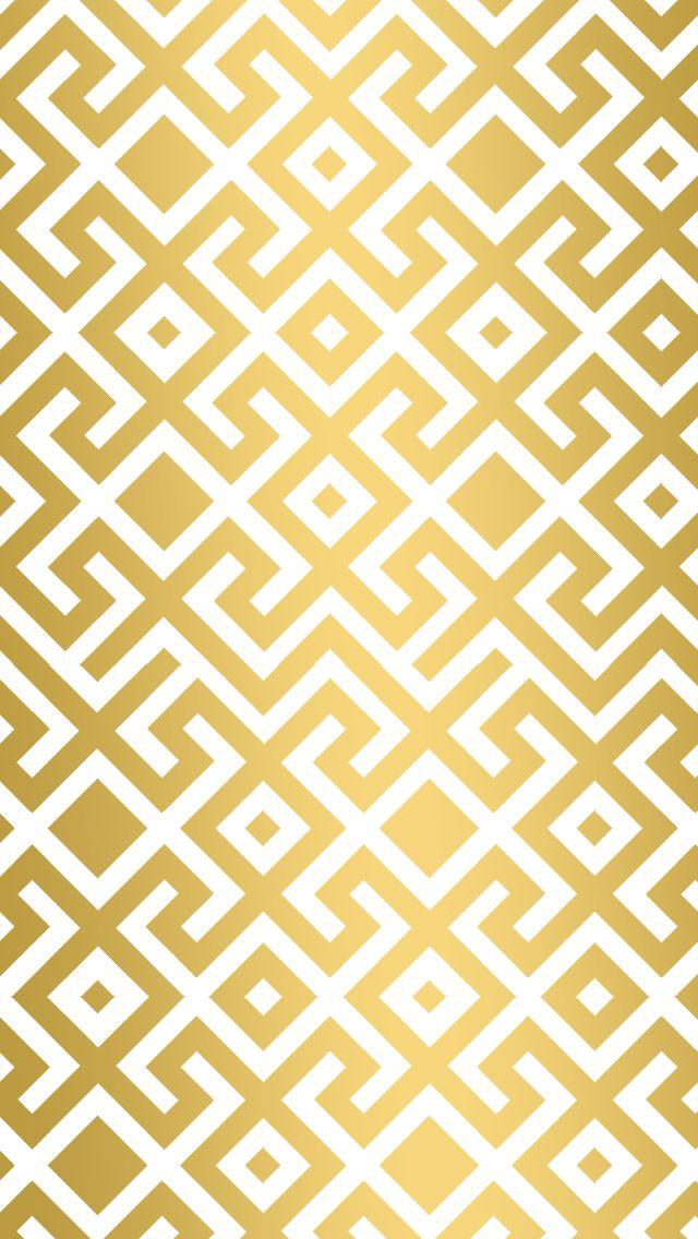 Gold Geometric Trellis Wallpaper Phone Phone Backgrounds Gold 640x1136