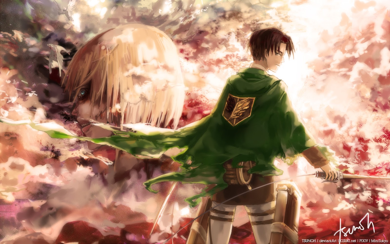 The Female Titan Annie Leonhard Levi Rivaille Attack on Titan Shingeki 1600x1000