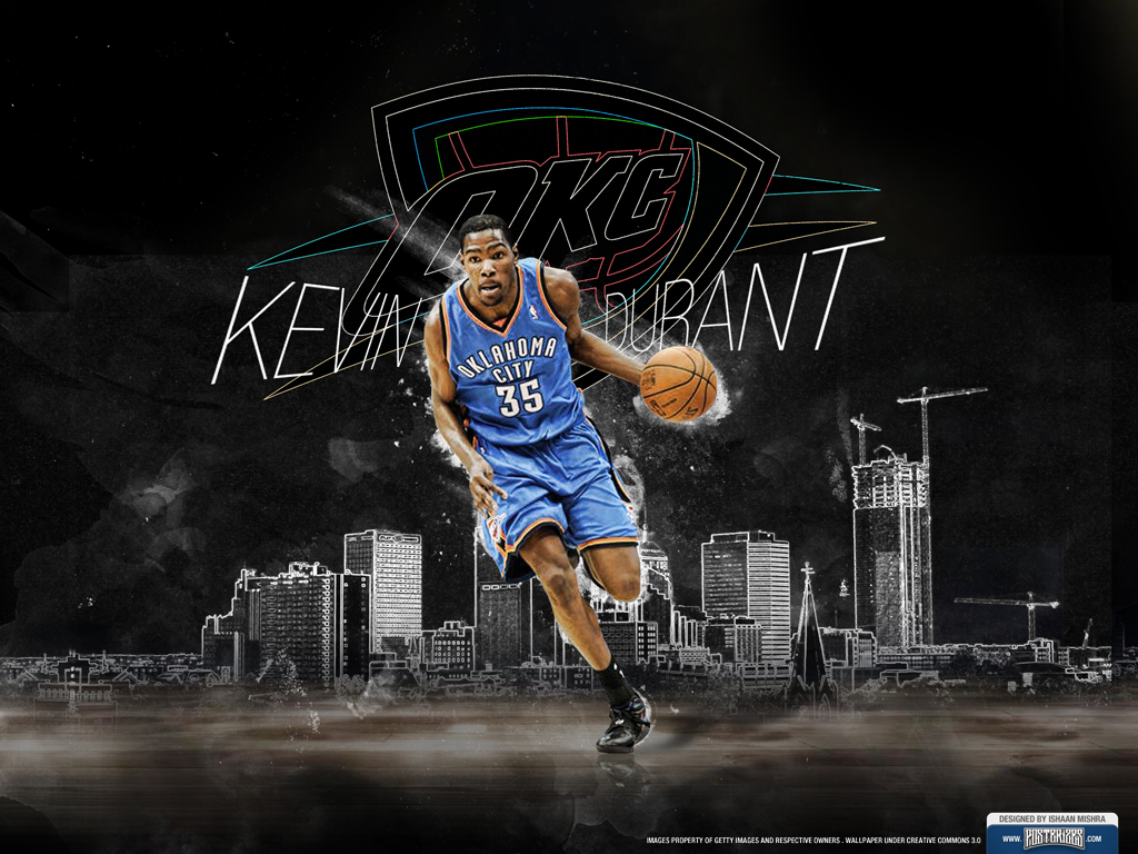 Kevin Durant Oklahoma City Thunder Wallpaper 1024x768