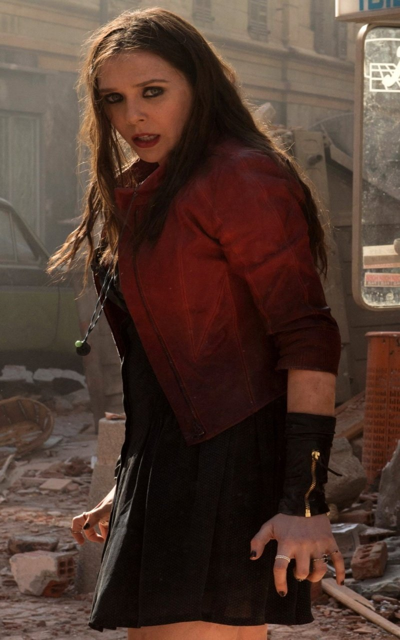 Elizabeth Olsen As Scarlet Witch Wallpapers   800x1280   300204 800x1280