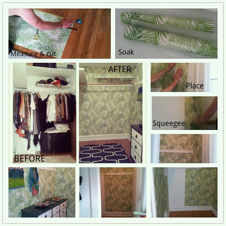 Temporary wallpaper step by step guide using Sherwin Williams Easy 720x720