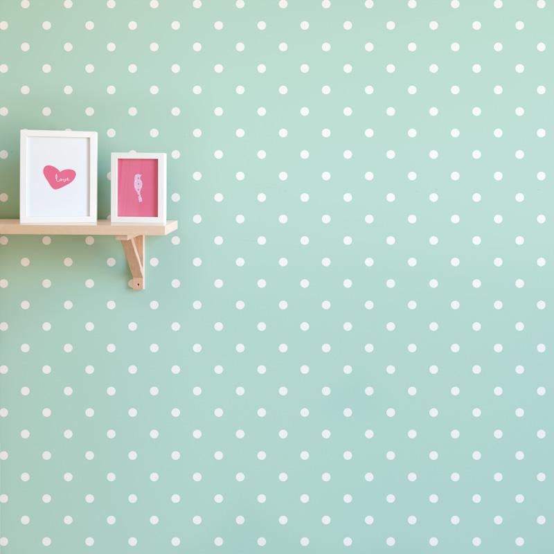 Polka Dot Print Removable Wallpaper for Nursery 800x800