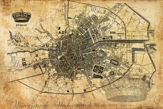 Dublin 2set   Transfer to Burlap Bag Print wrapping paper Wallpaper 570x380